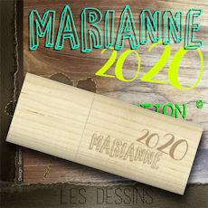 MARIANNE 2020 - La clé + le dossier